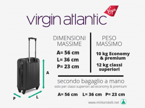 bagaglio a mano virgin atlantic